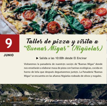 9 JUNIO | Taller de pizza